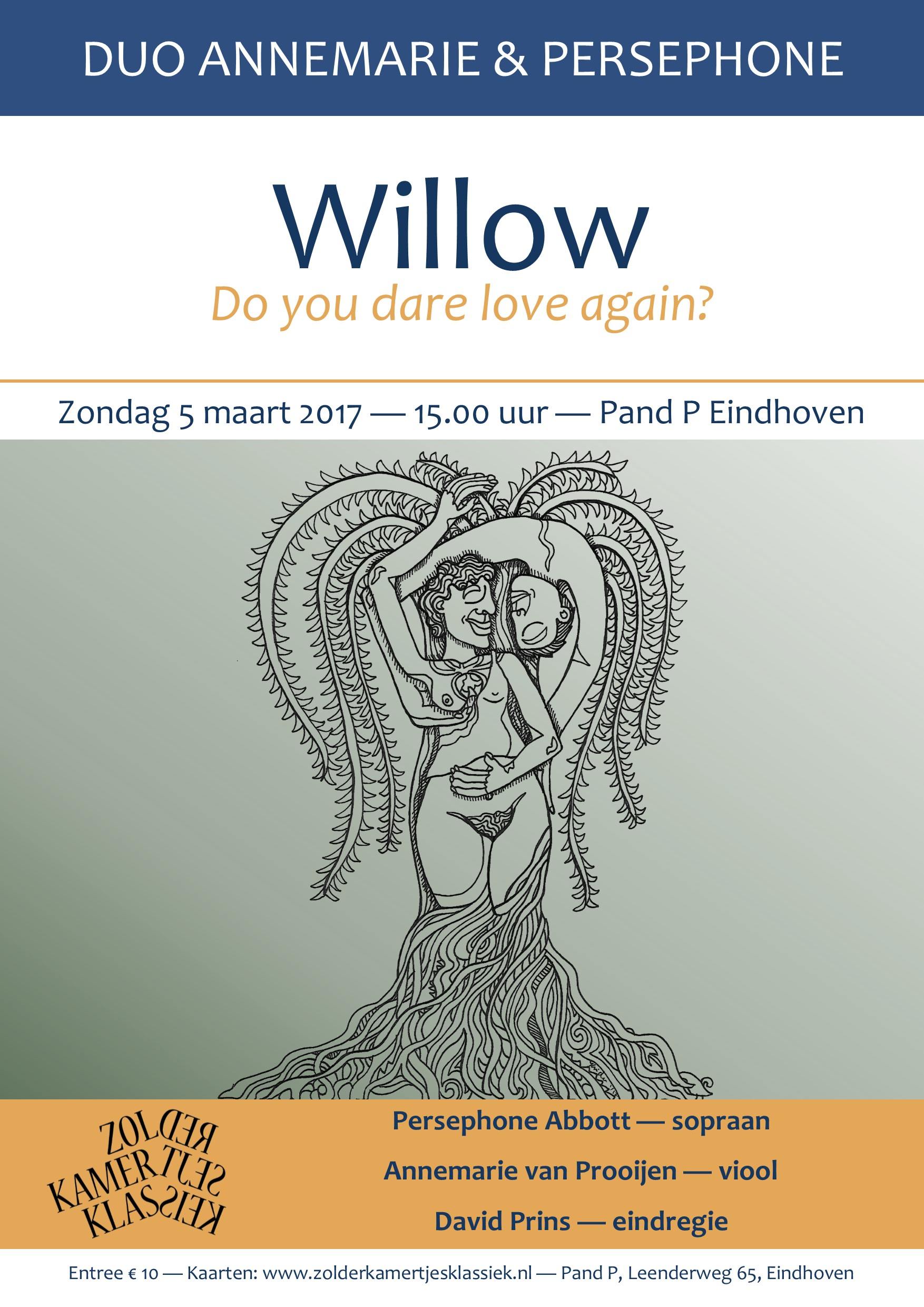 Flyer - Willow: Do you dare love again?