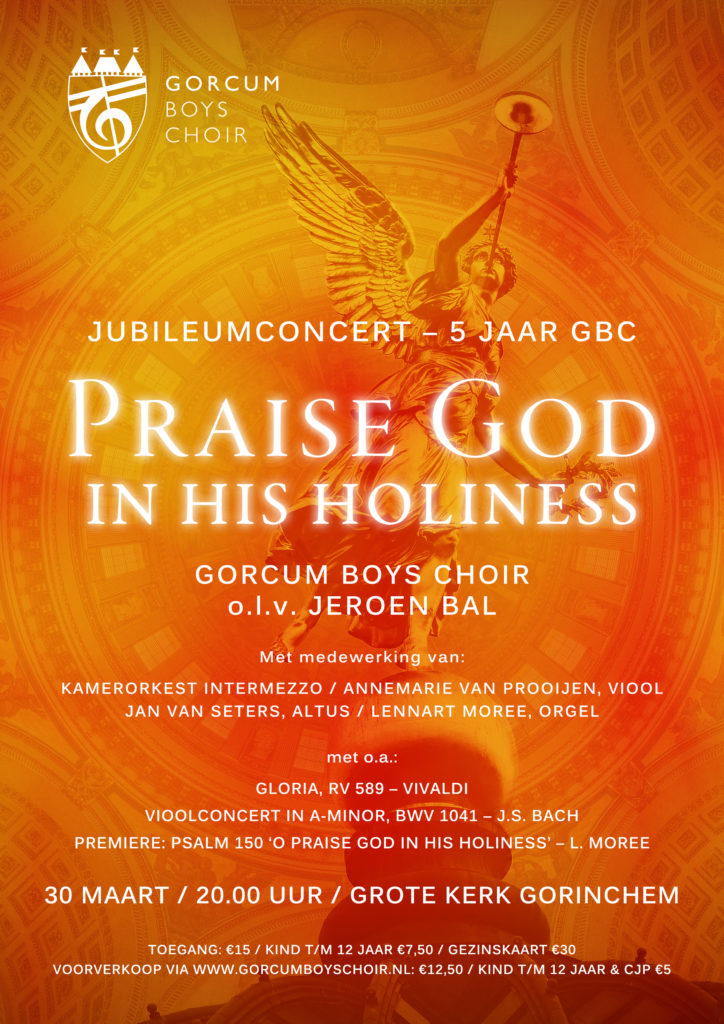Bach vioolconcert en het Gorcum Boys Choir @ Grote Kerk Gorinchem